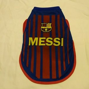 Barcelona Soccer Jersey For Dogs Or Cats (S)